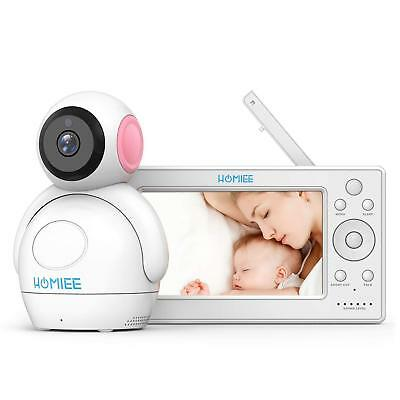 "HOMIEE 720P Wireless Video Baby Monitor w 5"" HD LCD Digital Screen Babmax Pink"