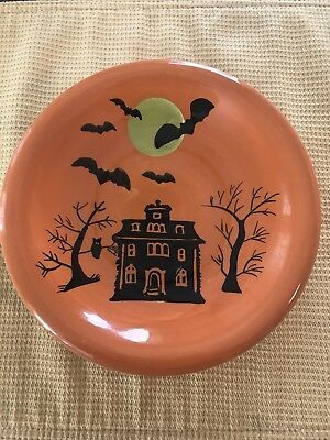Halloween Plates Set of Four glass Appetizer/Dessert Plates - By Home