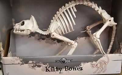 Spooky Village Halloween Kitty Bonez Life-Size Cat Skeleton Bone Prop/Decor