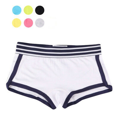 Women Boxer Underwear Comfort Sports Knickers Panties Lady Pure Color Underpants