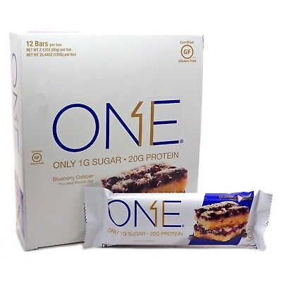 Oh Yeah ONE BAR PROTEIN ONE BAR BLUEBERRY Cobbler BARS X 8 To Clear Sept 18 B.B.