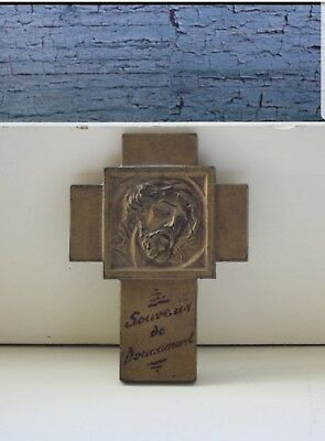 Vintage World War I Brass Crucifix Souvenir De Douaumont France Cross