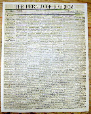 <1845 newspaper PRESIDENT JAMES POLK STATE OF THE UNION SPEECH Mexican War