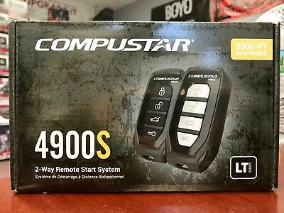 Compustar CS910-S 1-Button 1-Way 800 Foot Remote Start System Complete BRAND NEW