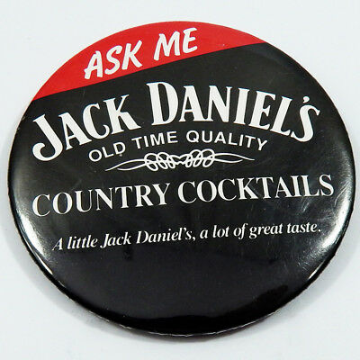 Jack Daniels Flair Pin Country Cocktails Alcohol Advertising Pinback Button