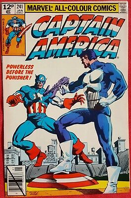 CAPTAIN AMERICA 241 Marvel 1980 The Punisher Frank Miller C/A