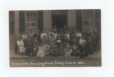 Jersey, The Gloucester Boarding House Rp Postcard