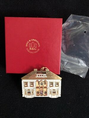 Bing & Grondahl 1995 Doll House Christmas Ornament Gold Plated