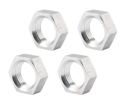 """5/8 Left Hand LH Lightweight Thin Half Jam Nut 4 Pack Nuts Uses 3/4"""" wrench"""