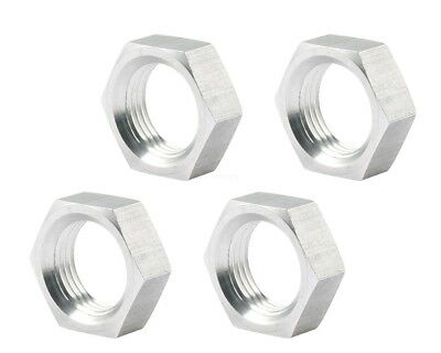 """5/8 Right Hand RH Lightweight Thin Half Jam Nut 4 Pack Nuts Uses 3/4"""" wrench"""