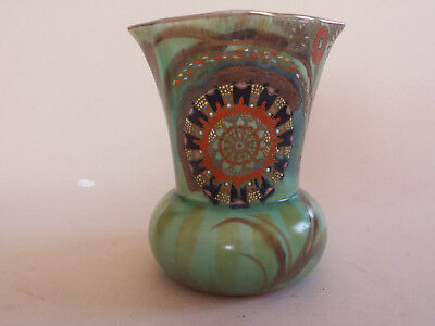 Carlton Ware Art Deco Handcraft Matt 'Flower & Falling Leaf' Vase beautiful cond