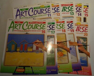 job lot 10x Magazines Step-By-Step Art Course Drawing Painting Made Easy 11-20