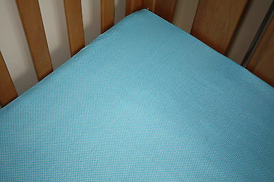 NEW one CotBed/Cot baby blue with dots Fitted Sheet 70x140 baby bedding nursery)