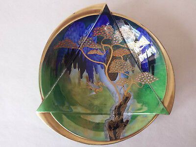 Outstanding Art Deco Carlton Ware Lustre 'Heron & Magical Tree' Bowl