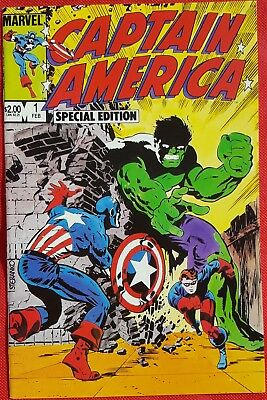 CAPTAIN AMERICA 1 Special Edition Marvel Age 1984 1st app of Madame Hydra
