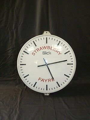 Large Factory Industrial Station Style Blick Clock 63cm Diameter