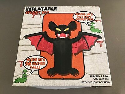 Five Below HALLOWEEN DECOR Inflatable SPOOKY BAT 36 Inches Tall Battery Operated