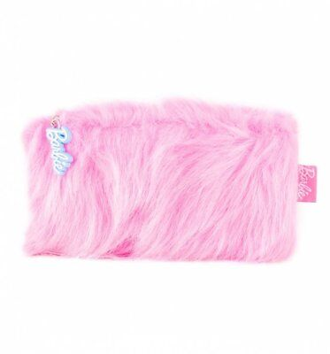 Official Fluffy Pink Barbie Make Up Bag from Mad Beauty