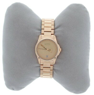 3a52b636c1c Authentic Gucci Women s Watch 27mm G-Timeless Pink Gold PVD YA126567 USED