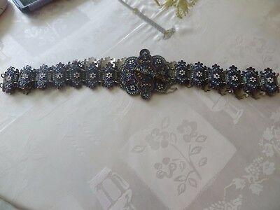 """Rare Vintage Late 19th Century Russian Silver Ladies Belt 33.4"""""""