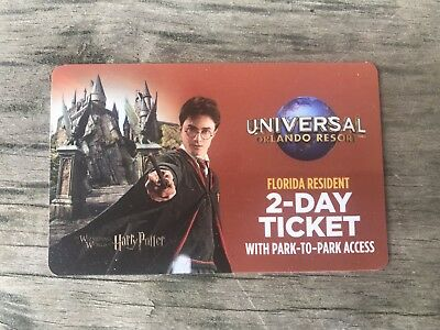 Universal Studios Harry Potter Gaye Ticket