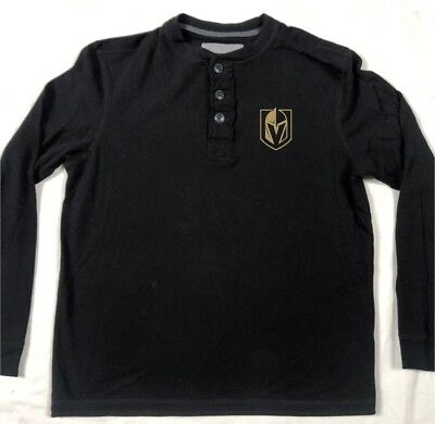 Las Vegas Golden Knights Long Sleeveshirt Size Medium Black Gray Jersey T-shirt