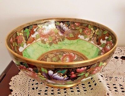 Maling Lustre Ware Footed Bowl Stunning Quality