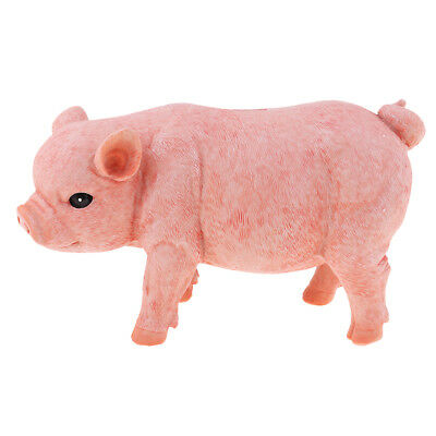 Lovely Pig Piggy Bank Collectible Chinese Zodiac Pig Figurine Gift Pink