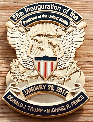 Donald J Trump & Michael R. Pence version RARE 2017 58th Inauguration Lapel Pin
