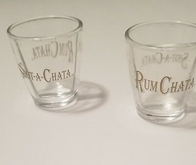 Rum Chata Shot-A-Chata Shot Glasses With Dividers Set of 2
