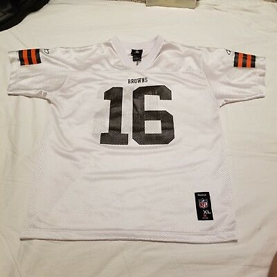 f743e938f Youth REEBOK Cleveland Browns JOSH CRIBBS NFL Football Jersey XL 18-20 White