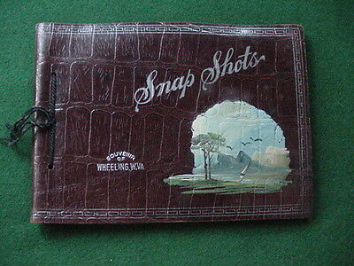 "Vintage Leather ""Souvenir Of Wheeling, W.VA."" Photo Album"