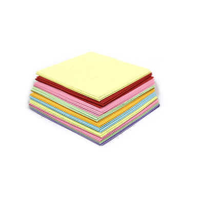 Origami Paper Double Sided Assorted Coloured Sheets  Craft Square 3 Sizes Choose