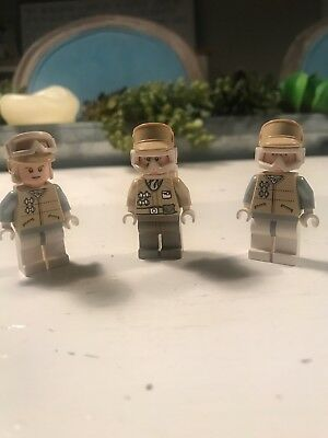 Lego Star Wars Lot 3 Minifigures Hoth Rebels Troopers, Officers 8083 7666 7749!