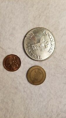 Coins, 3 rare Canadian/Vancouver out of circulation.