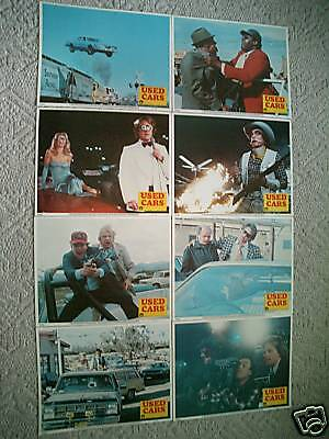 USED CARS~1980~11X14  LOBBY CARD SET of 8~MINT-ORIGINAL~KURT RUSSELL~MINT