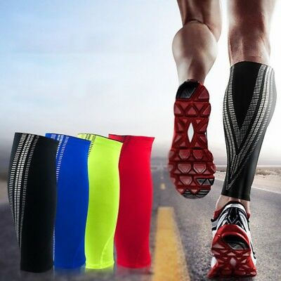 Outdoor Sport Leg Calf Support Stretch Sleeve Graduate Compression Sock Running