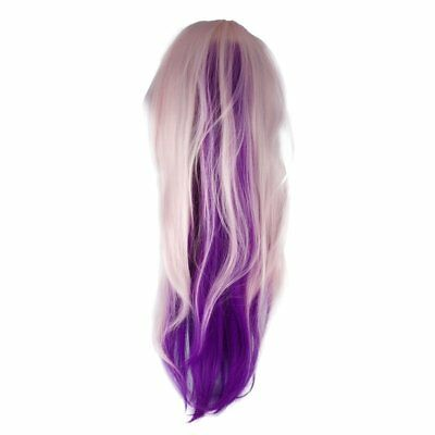 26 inch Pink to Purple Training Mannequin Head Long Hair Dolls For Practice GT