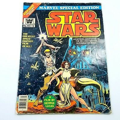 Marvel Special Edition Featuring Star Wars #1 (1977, Marvel) LARGE BOOK! Vintage