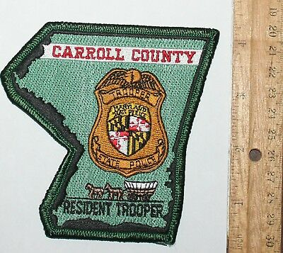 MARYLAND STATE POLICE Carroll County Resident Trooper MD patch