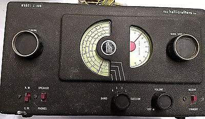 Vintage Hallicrafters Model S-38B Shortwave & AM Receiver Radio, circa 1947-1953