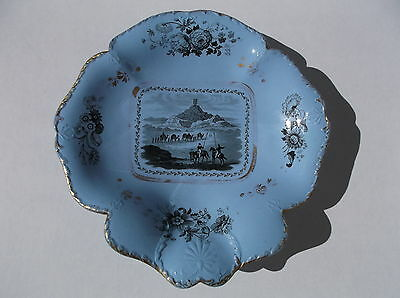 "Antique 1828 James Keeling England ""Views in Mesopotamia"" Iraq Compote Dish"