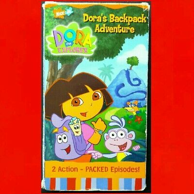DORA THE EXPLORER ● BACKPACK ADVENTURE ● Preschoolers Problem Solving Skills VHS