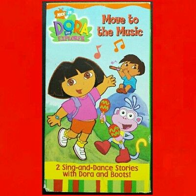 DORA THE EXPLORER ● MOVE TO THE MUSIC ● SING & DANCE STORIES Nickelodeon Jr VHS