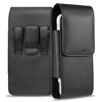 PU Leather Belt Clip Vertical Holster Pouch Carrying Case For Apple/Samsung