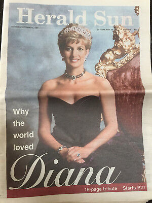 Herald Sun Princess Diana special addition newspaper dated 6th September 1997