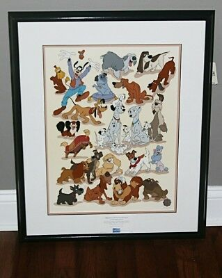 Disney's Canine collection limited edition sericel coa