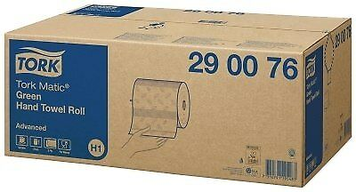 Tork Matic Green Hand Towel Roll H1 System 6 Rolls (290076)
