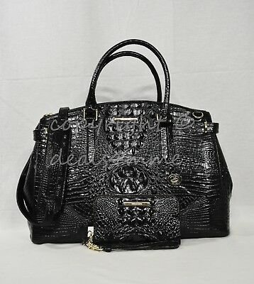 e98342a7a SET Brahmin Audra Leather Business Tote/Work Bag+Riley Wallet in Black  Melbourne