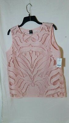 City Streets Lace Layering Top Sleepless SIZE L Color Pink or White